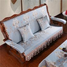 加厚海rb实木沙发垫vd连体防滑四季中式春秋椅定做红木质坐垫