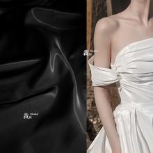 玻璃记rb 运动光泽vd白高档秋冬光面外套风衣服装设计师布料