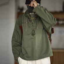 马登工rb 美式复古yi板服短式风衣阿美咔叽外套连帽夹克衫男