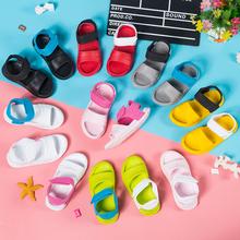 儿童凉鞋女童re3滑软底宝li滩鞋男洞洞鞋塑料凉拖鞋婴幼(小)童