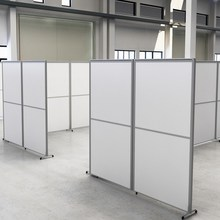 办公室re断墙隔房间cc风折叠推拉卡座活动铝合金工厂隔断定制