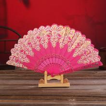 中国风re服扇复古扇cc典扇古风折扇舞蹈扇子夏季女士