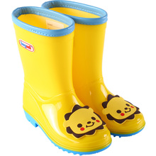 hugreii男童女ac水鞋轻便防滑时尚卡通幼儿园(小)孩雨靴