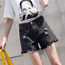 夏季胖re妹mm大码de式2021年欧美夏天显瘦牛仔短裤夏装潮爆式