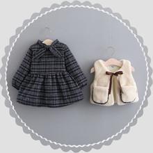 童装洋re0女童冬装de公主裙两件套0一1-3岁婴儿宝宝秋冬套装