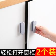 厨房门re手衣柜抽屉fl璃粘贴式辅助免打孔门把手推拉门窗拉手