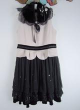 Pinre Maryfl玛�P/丽 秋冬蕾丝拼接羊毛连衣裙女 标齐无针织衫