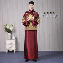 新郎秀re服男士龙凤ho结婚礼服敬酒绣和服秋冬新式古唐装嫁衣