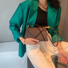 鸵鸟纹腋下女包时尚质感流行包包re12202ho式(小)众单肩手提包