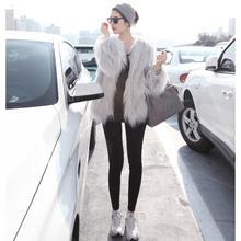 秋冬款女装新款同款渐变色女装re11毛仿皮ri白色粉色长袖