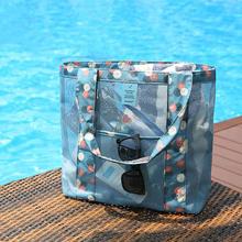 品牌乔纳阿迪达旅re5透明网纱su泳包沙滩包便携女士旅游洗漱