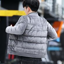 202re冬季棉服男sz新式羽绒棒球领修身短式金丝绒男式棉袄子潮