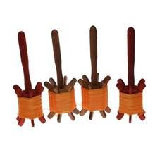木传统re古木转轮六13拐子大中(小)号木轮收线器放风筝