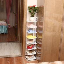 三角鞋re鞋架墙角扇ou鞋柜三角门口省空间金属收纳(小)鞋柜子