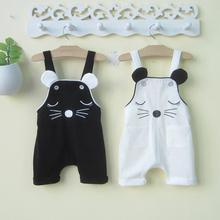 婴幼儿re童夏装潮0at2-3岁男女宝宝背带裤婴儿连体裤子夏季薄式