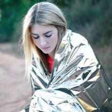 促销价re户外便携多ew救帐篷 金银双面求生保温救生毯防晒毯