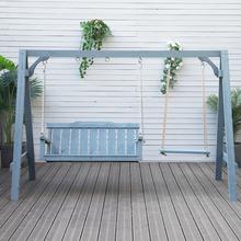 秋千户re庭院露台木ng千室外花园摇椅实木椅子吊椅大的宝宝