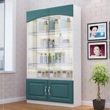 (小)型货re商用置物架ub璃门产品推拉门立式玻璃柜子展示柜透。