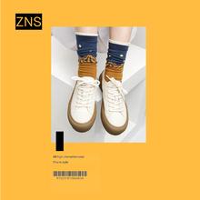 ZNSre020新式rv妹真皮(小)白鞋板鞋复古平底鞋百搭休闲鞋女潮