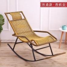 摇椅折re午睡椅夏天et休逍遥椅成的阳台实木休闲老的竹制躺。