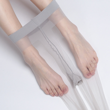 0D空re灰丝袜超薄ar透明女黑色ins薄式裸感连裤袜性感脚尖MF