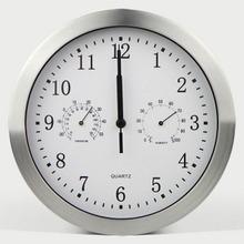 中国码re2英寸扫描ar温度湿度计挂钟表时尚挂钟自动校时包邮