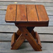 泰国木rf折叠(小)凳子lk意(小)板凳东南亚椅子(小)方凳矮凳木头家用