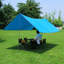 户外遮rf天幕折叠防qc凉棚涂银紫外线野营烧烤野餐遮阳帐篷棚