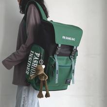 女韩款rf中大学生工wv双肩包ins百搭大容量旅行背包男潮