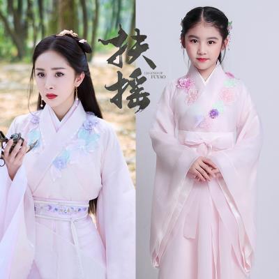 女童演rf服元旦表演zp汉服学生便宜服装宝宝复古古筝宝宝古风