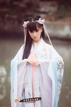 古装服rf仙女舞蹈演zp楼写真夏古代唐朝贵妃公主古筝长裙学生