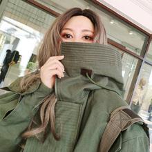 202rh新式二战冲b2衣设计感(小)众ins潮情侣工装炸街棉衣外套女
