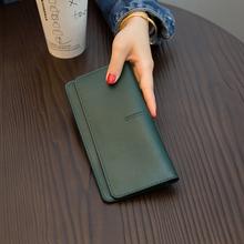 欧美大rh简约超薄女fh021新式气质搭扣卡位软牛皮钱夹