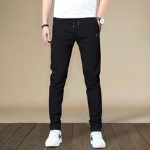 夏季韩rh修身薄式冰gm弹力休闲裤男青年学生速干直筒运动裤潮