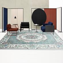 地毯客ri茶几田园乡ar韩式卧室地毯欧式美式宫廷 办公室地毯