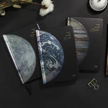 创意地ri星空星球记ewR扫描精装笔记本日记插图手帐本礼物本子