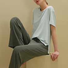 短袖长ri家居服可出ew两件套女生夏季睡衣套装清新少女士薄式