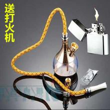 新式水ri壶复古两用gx拉伯式烟丝食用烟嘴水烟筒烟具