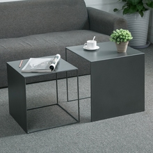 铁艺边几时尚ri3约现代茶in几创意美式(小)方桌边柜边桌置物架