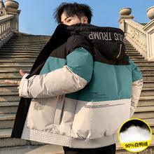 男士羽ri服2020in冬季加厚短式衣服潮牌外套中长轻薄青少年装
