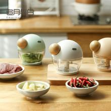 绞肉机rj用辅食手动xw子肉馅蒜蓉辣椒泥碎菜(小)型手拉式料理机