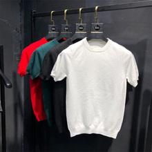 男士短rk针织衫20bx冬新式打底衫个性纯色潮流青年毛衣大码线衫