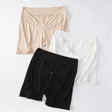 YYZrk孕妇低腰纯yy裤短裤防走光安全裤托腹打底裤夏季薄式夏装
