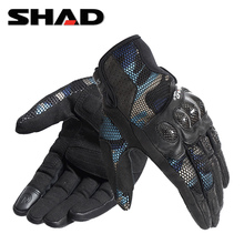 SHArm夏德夏季摩iv行手套碳纤维全指防摔迷彩可触屏机车男女