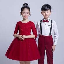 元旦儿rm大合唱团体ml中(小)学生朗诵表演服装男童女童长袖礼服