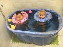 见康牌rm级款折叠浴ml锈钢支架折叠游泳池 婴儿游泳宝包邮