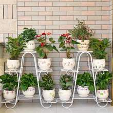 欧式阳rm花架 铁艺ml客厅室内地面绿萝花盆架植物架多肉花架子