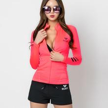 女防晒rm韩式分体水rr显瘦长袖冲浪外套装游泳衣速干衣