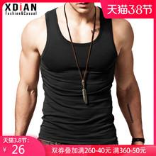 纯棉背rn男士运动健zp修身型打底弹力夏季无袖跨栏内穿潮汗衫