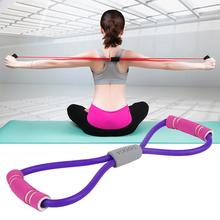 健身拉伸手臂床上背部拉绳
